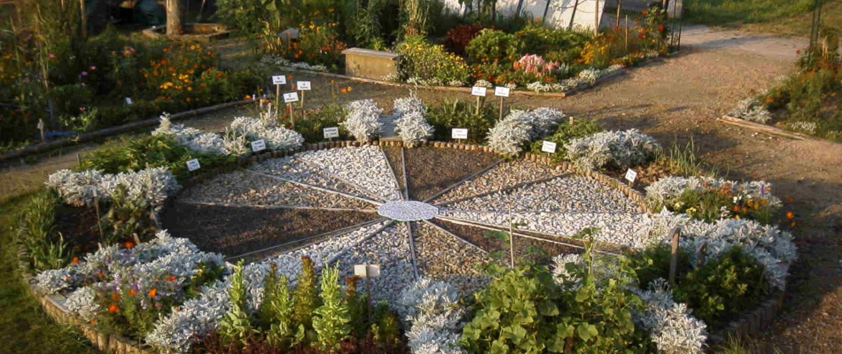 Der nach Mondkonstellationen bepflanzte Tierkreis im Demeter-Lehrgarten